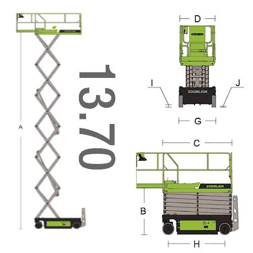 piattaforma 13 metri