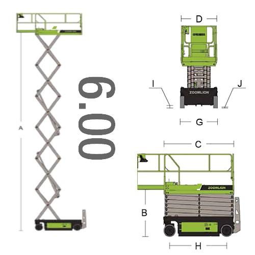 piattaforma 6 metri
