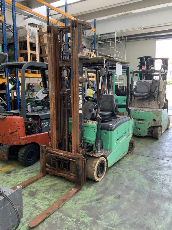 Carrello elevatore frontale elettrico rusty usato mitsubishi da 20q Degrocar mitsubishi vicenza per rivenditore
