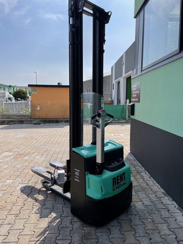 Stoccatore Transpallet elettrico uomo a terra da 12Q. usato Vicenza Padova Venezia Verona Mitsubishi Degrocar